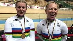 Women's Team Sprint - Stephanie Morton (SA) and Kaarle McCulloch (NSW) claim rainbow jersey