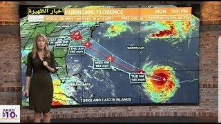 هذا ما حدث خلال إعصار فلورنس امس | شاهد المفاجئة سبحان الله !