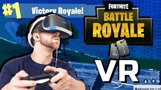 JUGANDO FORTNITE EN REALIDAD VIRTUAL! VR Fortnite Gameplay HTC Vive