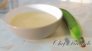 Jamaica Green Plantain Porridge From Chef Ricardo Cooking