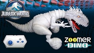 Opening + Playing: Indominus Rex ZOOMER DINO - Robotic Jurassic World Dinosaur!