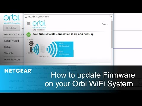 How do I check and manually update the firmware on my Orbi satellite