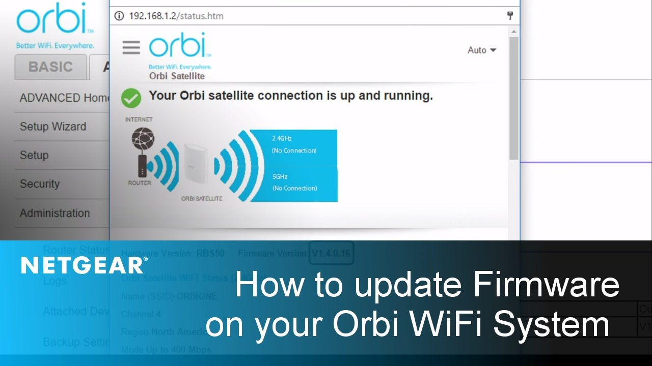 How To Update The Firmware On Your Orbi Satellites