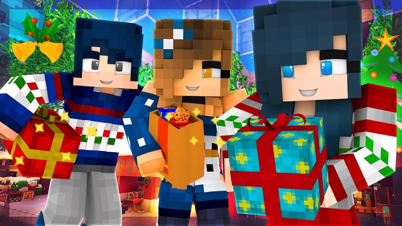 Christmas Minecraft Santa.Yandere High School Presents For My Secret Santa Christmas Mall S2 Ep 20 Minecraft Roleplay