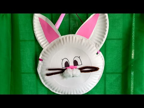How to make a rabbit using paper plate