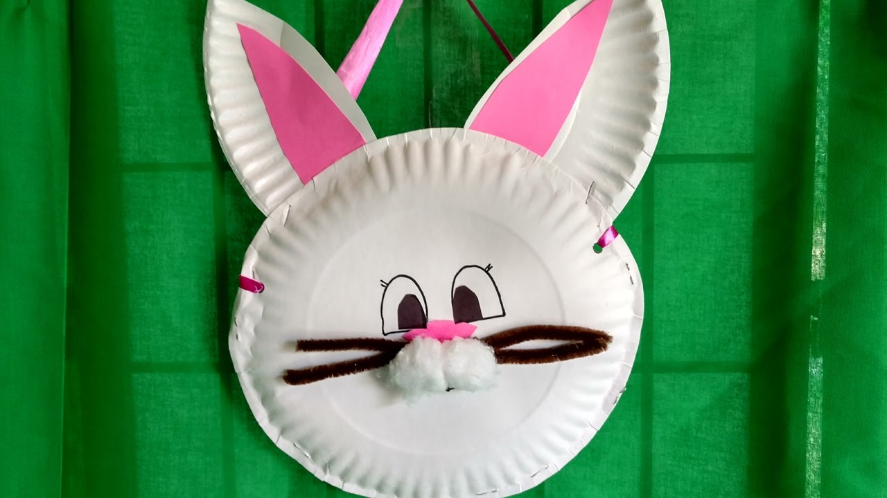 HOW TO MAKE a BUNNY BASKET from paper plates in 15 minutes. For kids. Thrifty and cute! & HOW TO MAKE a BUNNY BASKET from paper plates in 15 minutes. For kids ...
