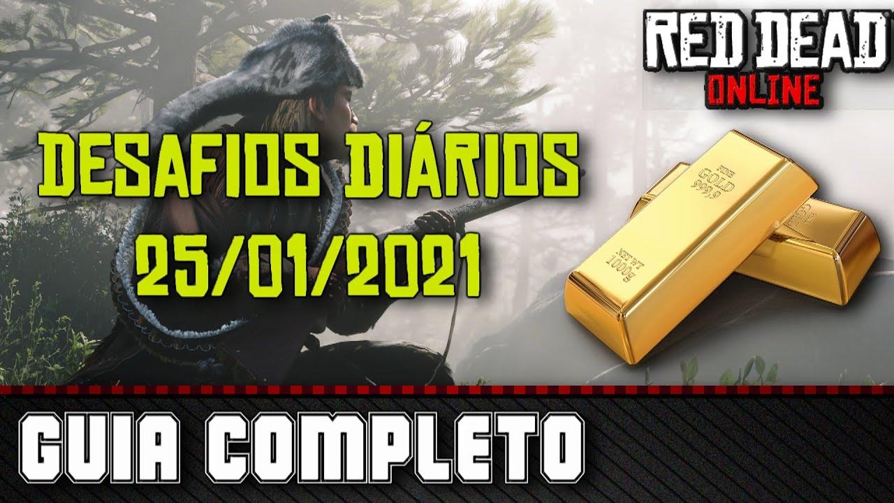 Desafios Diários - Red Dead Online 25/01/2021