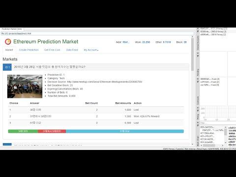 Decentralized Prediction Market Demo based on Ethereum