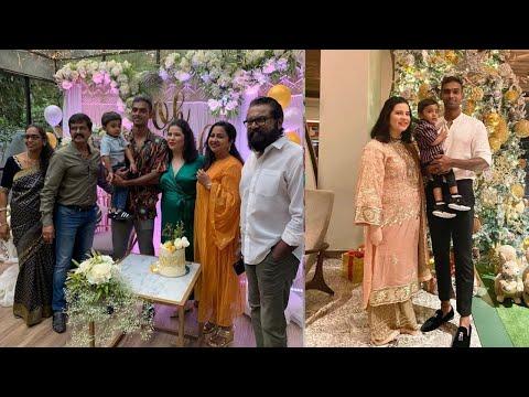 Radhika Sarathkumar Daughter Rayane 2nd Baby Shower function In Bangalore with Family
