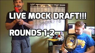 2016 Fantasy Football Mock Draft: Rounds 1-2 Free HD Video