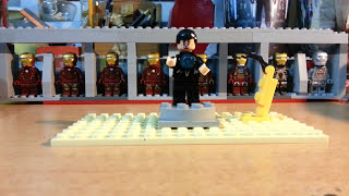 Iron Man 3 Lego Hall of Armors Custom made by myself =)