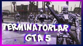 TERMINATORLAR BILAN HARBIYLARGA QARSHI KURASHAMIZ \/ GTA 5 MODLAR