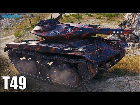 Т49 на ФУГАСАХ медаль Рэдли Уолтерса ✅ World of Tanks лучший бой T49