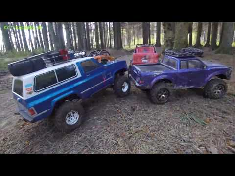 RC TRAILING & CRAWLING THROUGH THE FOREST | VATERRA CHEVY BL