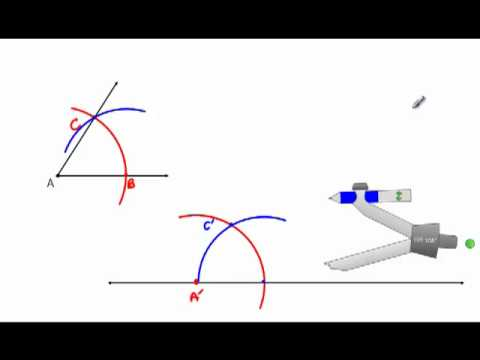 Geometry - Constructions 2 - Copying An Angle