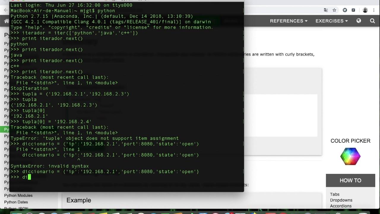 Video 6 - Diccionario en Python