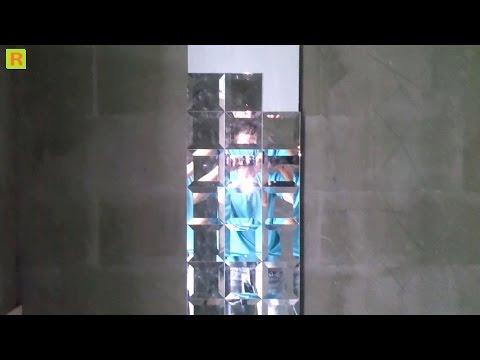 Как клеить зеркало-плитка в ванной (ремонт)