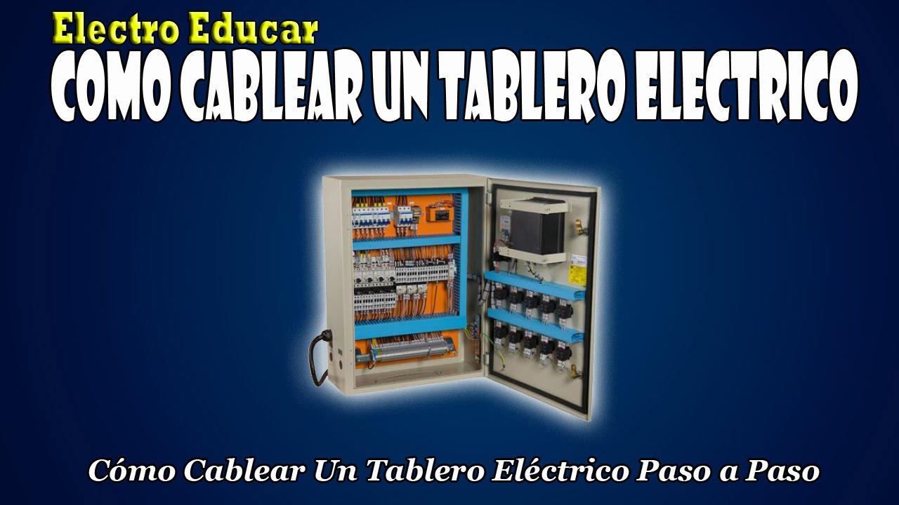 Como cablear un tablero electrico como cablear un - Cables de electricidad ...