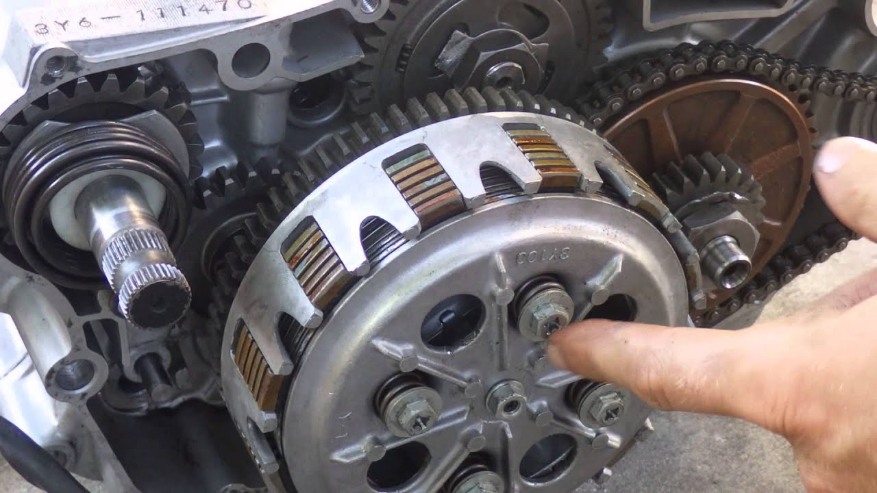How a motorcycle clutch works  YouTube