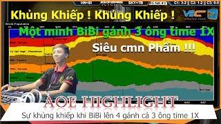 AOE Hightlight    Một mình BiBi Time 9 chục lên 4 gánh 3 ông time 1X, cân bản đồ ! Quá khủng khiếp
