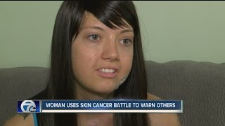 Woman uses skin cancer battle to help others