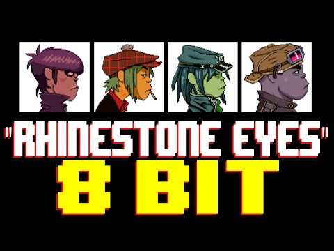 Rhinestone Eyes 8 Bit Universe Tribute to Gorillaz