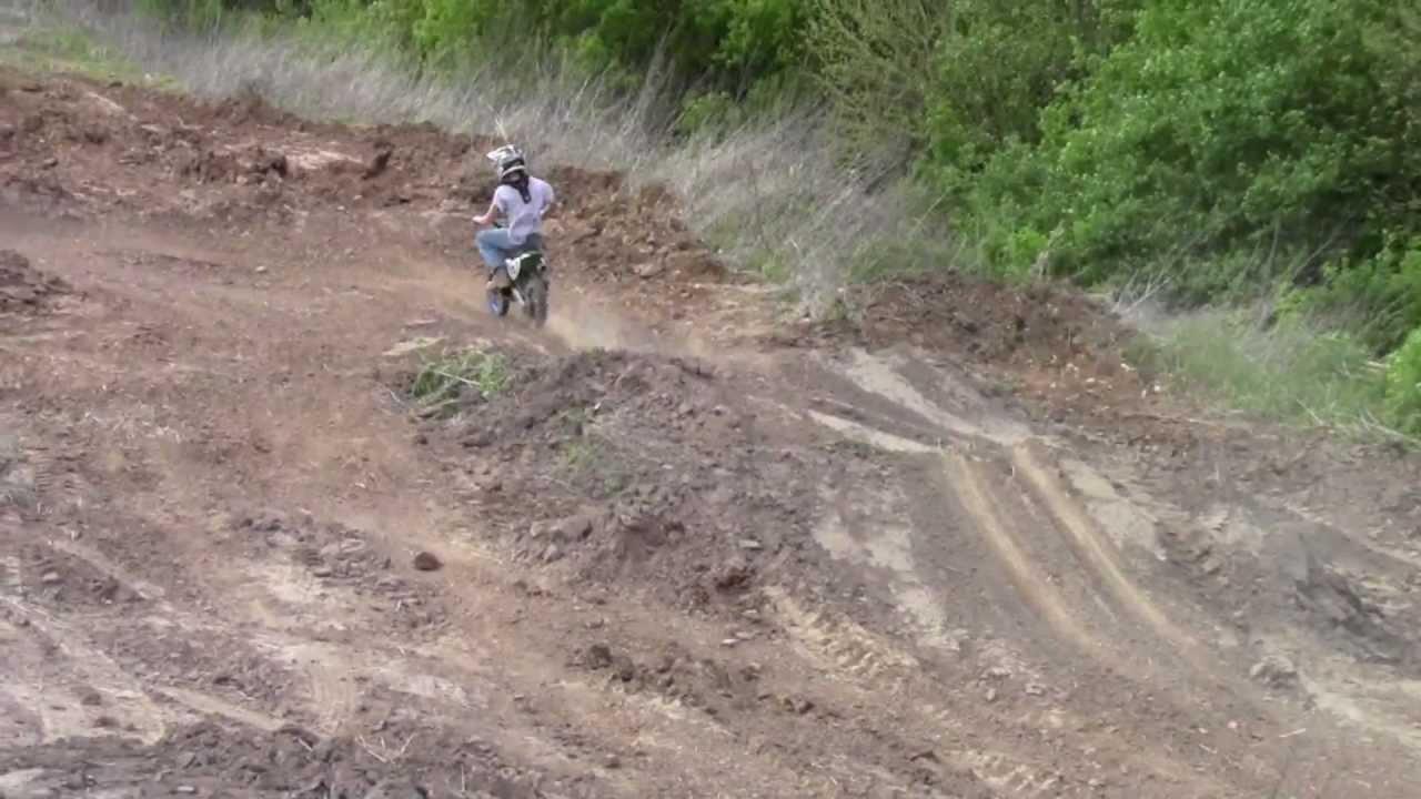 Backyard Pitbike Track - YouTube
