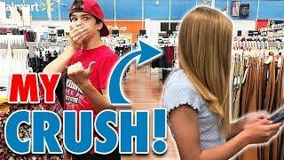 Ran into my Crush Halloween Shopping - SO Embarrassing!