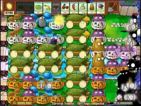 Plants vs Zombies Survival Endless 5000 plus flags - by Hardinero
