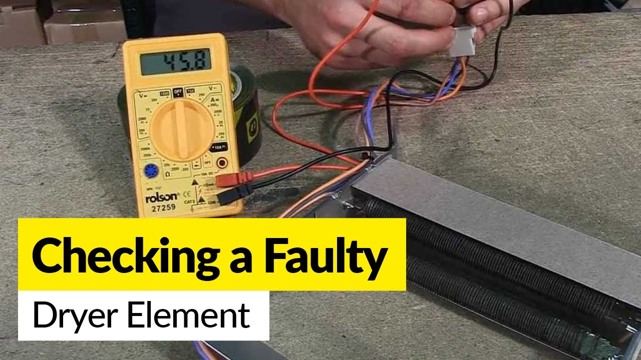 How To Check A Faulty Dryer Element Using Multimeter Youtube 3 Wire Diagram
