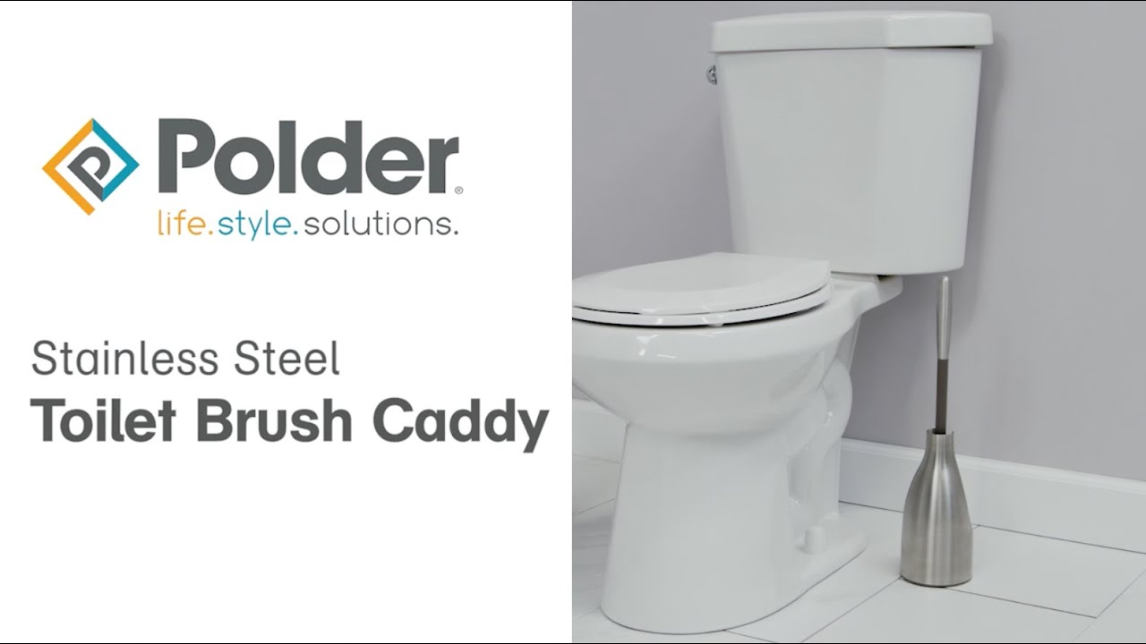 Stainless Steel Toilet Brush Caddy Polder Products Life Style Solutions