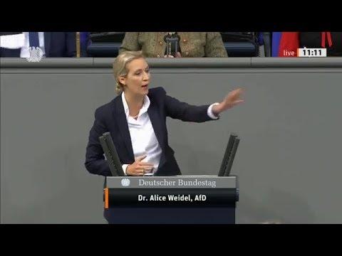 Bundestag. Spitzen Rede. Abweichende Meinungen werden kriminalisiert. Dr.Alice Weidel, AfD 27.11.19