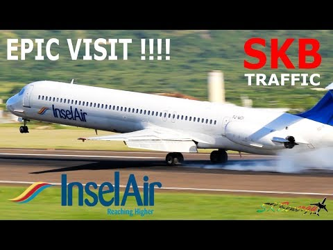 Insel Air MD-82 in St. Kitts !!!!! arrival and departure to Curacao