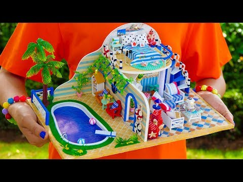 DIY Doll House With Swimming Pool