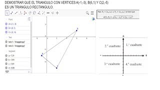 Demostrar Que Los Puntos A B C Son Vertices De Un Triangulo Youtube