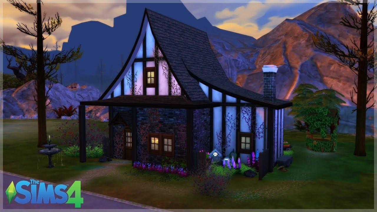 The Sims 4 Speed Build Maison De Sorciere No Cc Youtube
