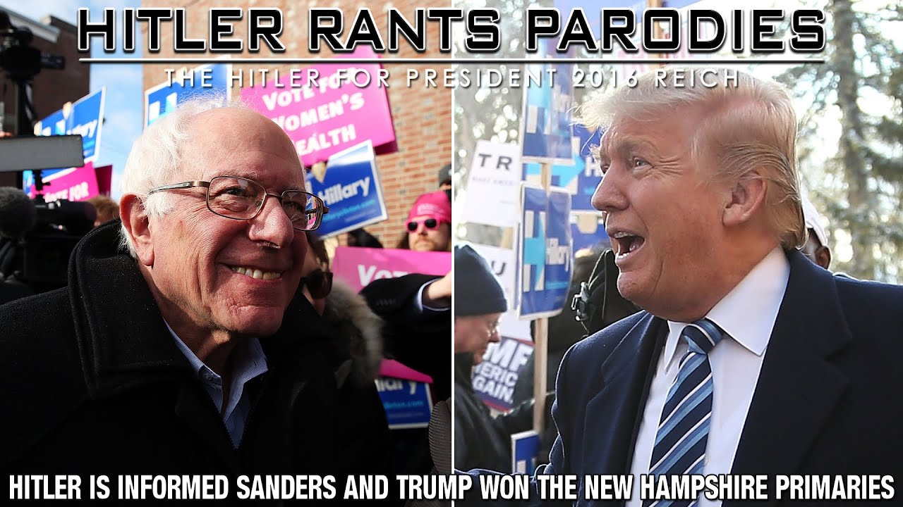 Hitler is informed Sanders and Trump won the New Hampshire primaries