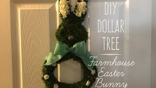 DIY Dollar Tree Farmhouse Easter Bunny