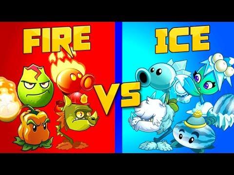 Team vs Team Plants vs Zombies 2 FIRE vs ICE