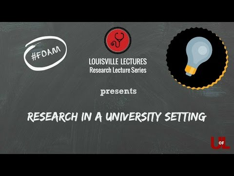 Research in a University Setting By Dr. Ramirez