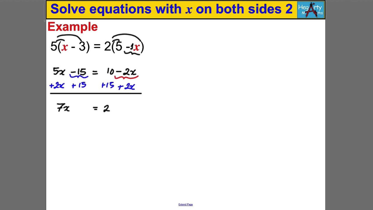 how to solve for x on both sides