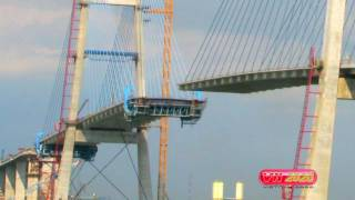 The Phu My Bridge - Saigon, Vietnam (2007- 2009)  - Construction Time Lapse