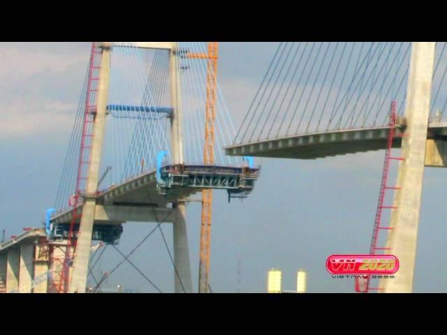 The Phu My Bridge - Saigon, Vietnam (2007- 2009)  - Construction Time Lapse