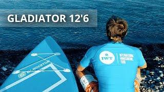 Тест САП доски GLADIATOR 12,6 на Черном море SUP surfing