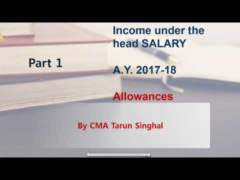 income under the head salary part 1