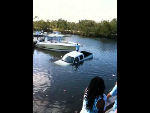 Pickup Truck Ramps >> 2nd F250 Sunk at Boat Ramp - YouTube