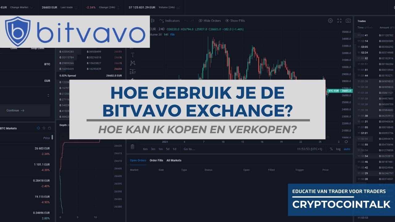 Hoe gebruik je de Bitvavo exchange uitleg