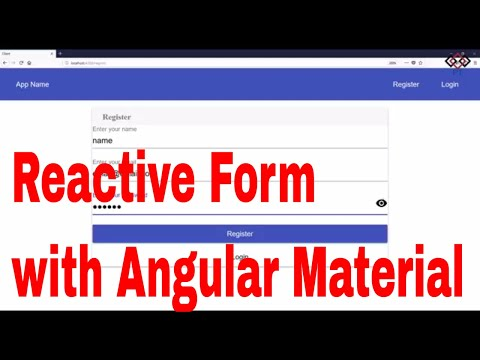 Part 7 Angular Reactive Forms With Material Design Register Login Youtube
