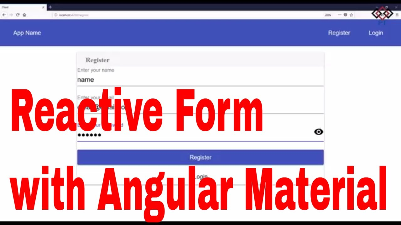 Part 7: Angular Reactive Forms with Material Design(Register & Login)