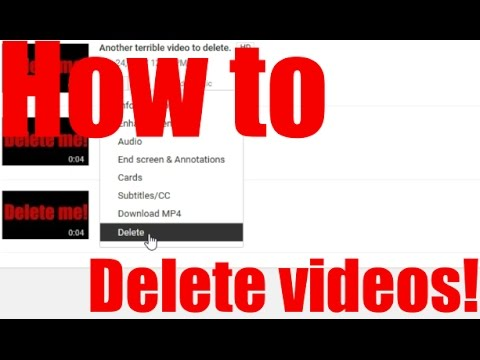 How to delete a youtube video 2017 hd youtube how to delete a youtube video 2017 hd ccuart Choice Image